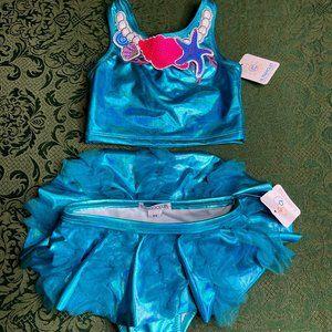 NWt 2t flapdoodles seashells 2pc bathing swim suit